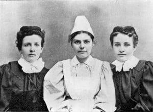 Emily J. Dandy, Catherine Nablo and Josephine B. Tingley, first Methodist Deaconesses to be licensed in Canada in 1897. UCC Archives 90.115P259N