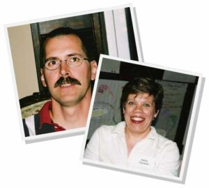 Diaconal Ministers, Emmanuel grads David Hewitt,1978 and Kathy Toivanen 1986, photos taken 2003
