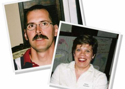 Diaconal Ministers, Emmanuel grads David Hewitt,1978 and Kathy Toivanen 1986, photos taken 2003