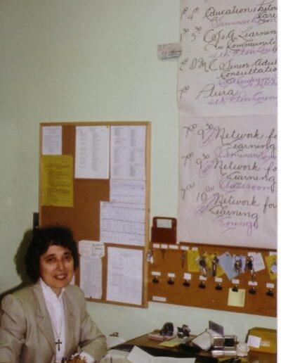 Pearson-Kay-at-77-Front-desk-circa-1980