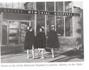 nurses-at-Archer-Hospital-in-Lamont-AB-in-1960s-300x239